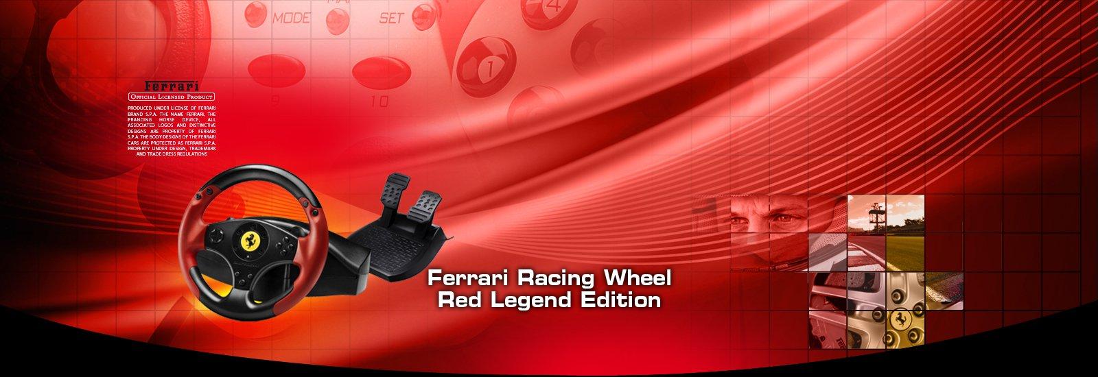 ferrari racing wheel red legend édition